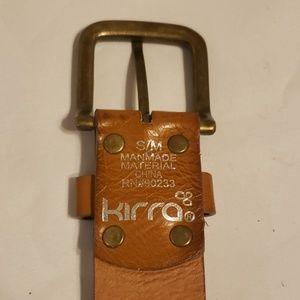 """Kirra Accessories - Kirra belt s/m 34.5"""" brown leather rivets"""